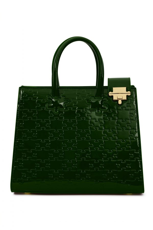 IBUKUN-Leather Forest Green