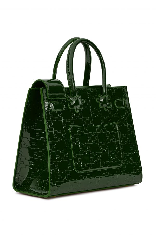 IBUKUN-Leather Forest Green Angle 1